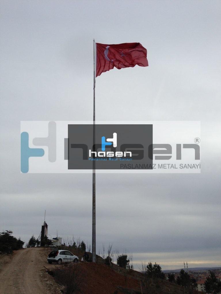 Gölbaşı Belediyesi - 50 Metre Galvanizli Bayrak Direği